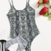 SHEIN Snake Print Cami Bodysuit