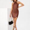 SHEIN Tall Backless Wrap Hem Bodycon Dress