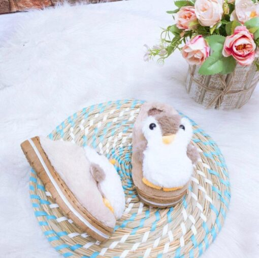 Penguin fluffy slippers