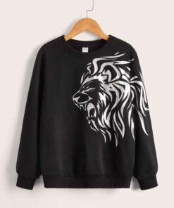 SHEIN Boys Lion Print Pullover