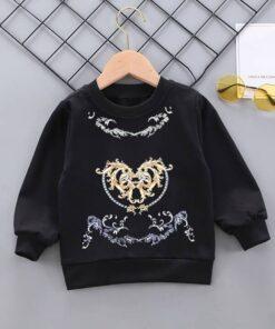 SHEIN Toddler Boys Baroque Print Pullover