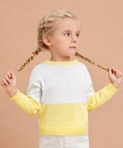 SHEIN Toddler Girls Colorblock Sweater