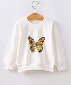 Shein Toddler Boys Butterfly & Floral Sweatshirt