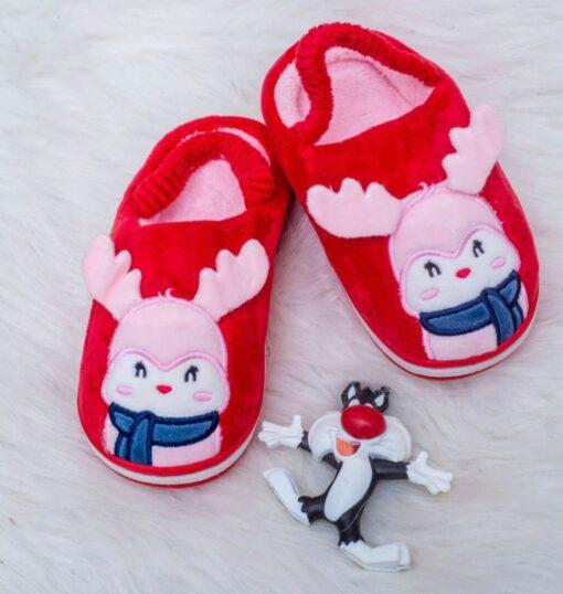 Deer fluffy slippers