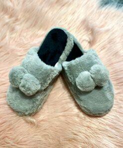 Ball fluffy slippers